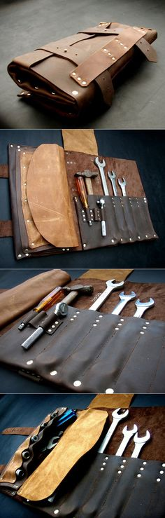 Handmade Leather Tool Roll