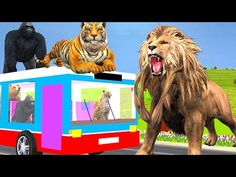 (16) Animals Rhymes For Children | Animals Wheels On The Bus | Nursery Rhymes & Songs | Rhymes For Kids - YouTube