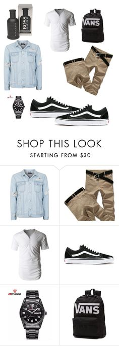 """Untitled #87"" by ericap61720 ❤ liked on Polyvore featuring Topman, LE3NO, Vans, BOSS Hugo Boss, men's fashion and menswear"