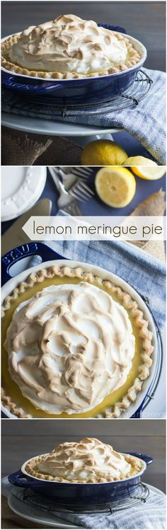 Homemade Lemon Meringue Pie- Such a classic! Love this in the summer. ~ http://bakingamoment.com