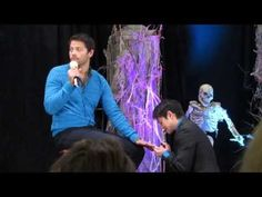 ▶ Misha Collins Getting A Manicure From Osric & Richard - BurCon 2013 - YouTube