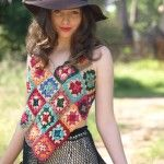 how to make crochet granny square top