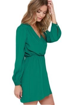 Shopo.in : Buy That's A Wrap Long Sleeve Dress online at best price in Bangalore, India