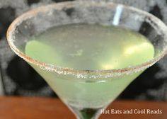 Green Apple Martini from Hot Eats and Cool Reads
