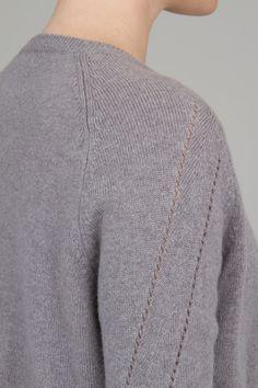 Folk Womens - Panelled Cardigan - Feather Grey   Folk AW12