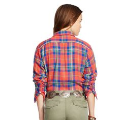 Relaxed-Fit Plaid Workshirt - Long-Sleeve   Tops & Polos - RalphLauren.com