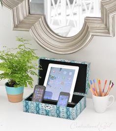 diy charging station decorative box
