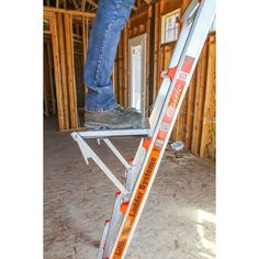Elated graduated diy metalworking Buy now! (Also Purchase Now! Diy Ladder, Platform Ladder, Ladder Accessories, Workshop Storage, Garage Workshop, Dewalt Tools, Pvc Projects, Little Giants, Shopping