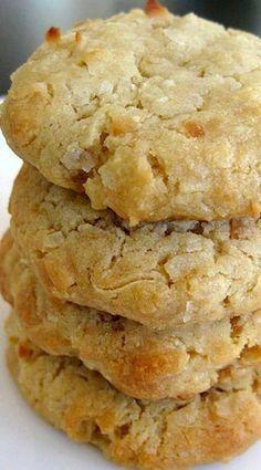 Coconut Cream Cheese Cookies - Cookie Recipes for Kids Easy Cookie Recipes, Cookie Desserts, Potluck Desserts, Sweet Recipes, Baking Recipes, Delicious Desserts, Dessert Recipes, Yummy Food, Cookie Bars