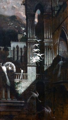 Mario de Maria (Marius Pictor) - La danza dei pavoni / The dance of the peacocks (1886-18890)