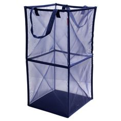 Room Essentials Mesh Spiral hamper Nighttime Blue<br><br>1) Anything can put in<br>2) Foldable<br>3) Portable<br>4) Light and handy  <br><br>The double folding mesh cube offers for storing laundry, toys or stuffed animals, it made from a durable mesh fabric, it folds flat for compact storage.