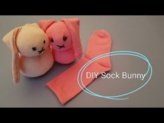 DIY sock bunny. Great easter project!