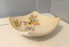Check out this item in my Etsy shop https://www.etsy.com/listing/595035233/vintage-butterfly-dish-decorative-mid
