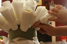 Like Mom And Apple Pie: How to Make A Diaper Bouquet