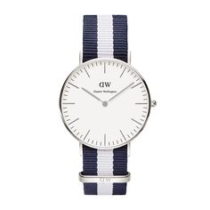 Daniel Wellington's Classic Canterbury is a timeless wrist watch with a white dial and rose gold details, perfectly matched with the playful Canterbury NATO strap. Dw Watch, Gold Watch, Watch Band, Southampton, Cool Watches, Watches For Men, Women's Watches, Dress Watches, Silver Watches