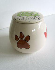 Personalized Ceramic Pet Treat Jar by Purple Glaze Pottery | Hatch.co