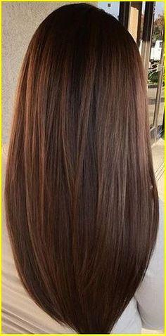 Brunette hair color 00008