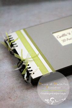 Wedding Book, Wedding Ideas, Idee Diy, Handmade Books, Scrapbooking, Gift Wrapping, Album, Decoration, Gray