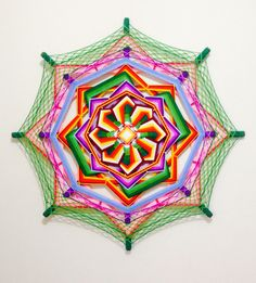 Mandala de lã 😌 TAM: 1 metro