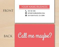 54 Best Business Card Templates Images On Pinterest In 2018