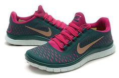 Nike Free 3.0 V4 Women Dark Green Peachblow Sneaker