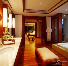 This is villa represents the pinnacle of lush, tropical living in Phuket. Each suite & villa is designed to exist in perfect harmony with its surroundings. Natural timber & Luxurious Silk create a relaxing & peaceful sanctuary, while exquisite gardens ensure complete privacy & guarantee absolute comfort wherever you rest.