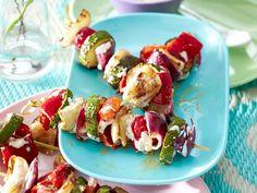 Vegetarisch grillen - Gemüse und Käse vom Rost - tandoori-spiesse  Rezept