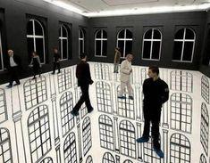 That's trippy Illusion Art by Regina Silveira 3d Street Art, Street Work, 3d Floor Painting, Instalation Art, Cool Optical Illusions, Floor Art, Contemporary Abstract Art, Illustration, Art Plastique