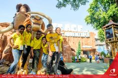 The childrens from Agape Orphanage are posing during (Do-Fun) Charity Event. We bring orphans from Agape orphanage for a day full of fun and adventures at Dufan Themepark.