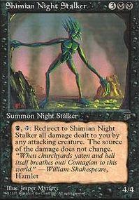 Shimian Night Stalker - Summon Night Stalker - Skull - Black - Chronicles - Magic The Gathering Trading Card