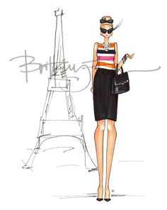 Brittany Fuson...  such cute fashion illustrations on her blog site...