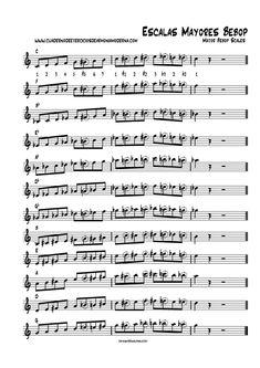 escalas mayores bebop (completo) Jazz Sheet Music, Saxophone Sheet Music, Piano Jazz, Blues Guitar Lessons, Music Lessons, Bebop, Trumpet Music, Telecaster Guitar, Jazz Art