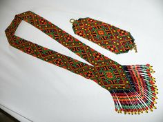 Gerdan .Ethnic bead necklace beaded jewelry by HardangerUA