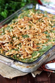 Home Matters Linky Party Classic Green Bean Casserole Greenbean Casserole Recipe, Potatoe Casserole Recipes, Vegetable Casserole, Sweet Potato Casserole, Sweet Potato Recipes, Casserole Dishes, Onion Casserole, Spicy Green Beans, Frozen Green Beans