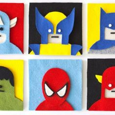 Superheroes That Know How You 'Felt' Felt might seem like a fabric reserved for grade school craft projects and Muppet construction, but artist Jacopo Rosati uses the fuzzy textile to create clever works of art. Superhero Art Projects, Projects For Kids, Sewing Projects, Craft Projects, Canvas Art Quotes, Art For Kids, Art Children, Textiles, Felt Crafts