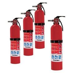 Home Fire Extinguisher 4 Pack Rated Durable Metal Head Safety Seals Kidde Fire Extinguisher, Waterproof Labels, Fire Prevention, Carbon Monoxide Alarms, Client Gifts, Fire Safety, Safety And Security, Tools And Equipment