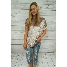 Our crushed velvet top has endless possibilities, date night, lunch with friends, you name it!