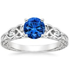 18K White Gold Sapphire Aberdeen Diamond Ring from Brilliant Earth