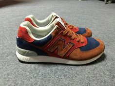 Cheapest 2015 New Balance 576 Red Navy Mens Sneakers