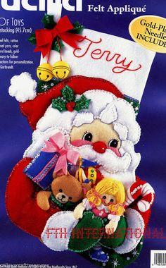 Bucilla Armful of Toys  18 Felt Christmas Stocking Kit