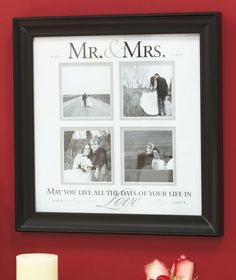 photo frame - Mr & Mrs - wedding, anniversary gift
