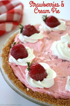 This super easy Strawberries and Cream Pie will quickly become one of your favorite desserts. The pie starts with an amazing Nilla Wafer crust, a creamy, vanilla cream cheese layer followed by the most delicious strawberry layer. Deliciousness! Strawberries & Cream Pie During the summer months, I always catch great sales on fresh strawberries. This...Read More