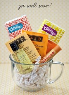 Do it yourself gift basket ideas for all occasions pinterest a little get well soon gift could be a great fall gift for clients and solutioingenieria Images