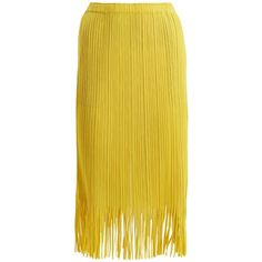 Pleats Please Issey Miyake Fringed pleated skirt (17.110 RUB) ❤ liked on Polyvore featuring skirts, yellow, below knee skirts, yellow pleated skirt, knee length pleated skirt, below the knee skirts and pleats please by issey miyake