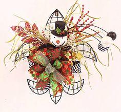 Christmas Wreath, Christmas Fleur De Lis, Snow Man Wreath, Fleur De Lis, Ready to ship