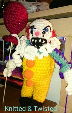 Pennywise Live Action, Ronald Mcdonald, Crochet Patterns, Animation, Tv, Movies, Fictional Characters, Amigurumi, Crochet Chart