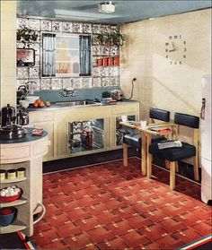 No! Not the chairs again!! (Dream Kitchen for 1939 by American Vintage Home, via Flickr).