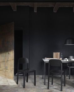Hello from Stockholm, where we will present our new designs during the next days! One of them is WORKSHOP chair by @ceciliemanz, here in an all-black setup - clean and elegant, with Cecilie's typical love for detail.  #muuto #muutodesign #nordicdesign #scandinaviandesign #newperspectives #allblack #interiorinspiration #ceciliemanz #itsallabouthedetails