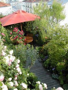 Vous voulez un toit vert Rooftop Terrace, Terrace Garden, Balcony Gardening, Small Gardens, Outdoor Gardens, Roof Gardens, Outdoor Rooms, Outdoor Living, Apartment Balcony Decorating