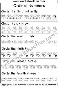 Ordinal Numbers – 2 Worksheets
